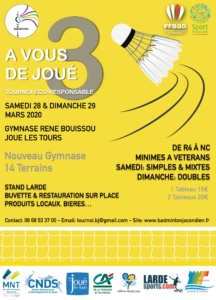 Tournoi Badminton JOUE-LES-TOURS