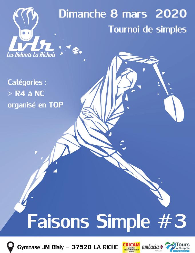 Tournoi Badminton LA RICHE