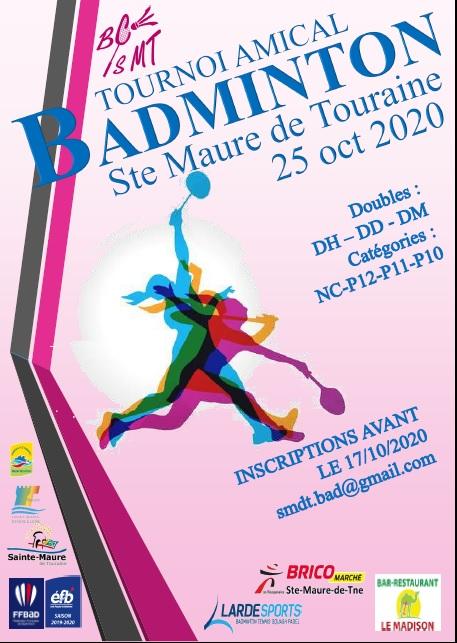 Tournoi Badminton Sainte Maure